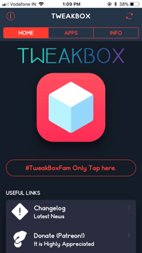 TweakBox Screenshot 1